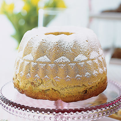 Easter Kugelhopf RecipeThis golden coffee cake with a rich buttery flavor is a German specialty and is named after its decorative baking pan. If you don't have a kugelhopf pan, feel free to use a Bundt pan when making Easter breads.