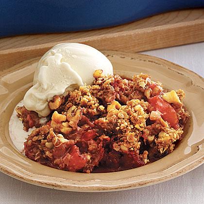 Rhubarb-and-Strawberry Crisp