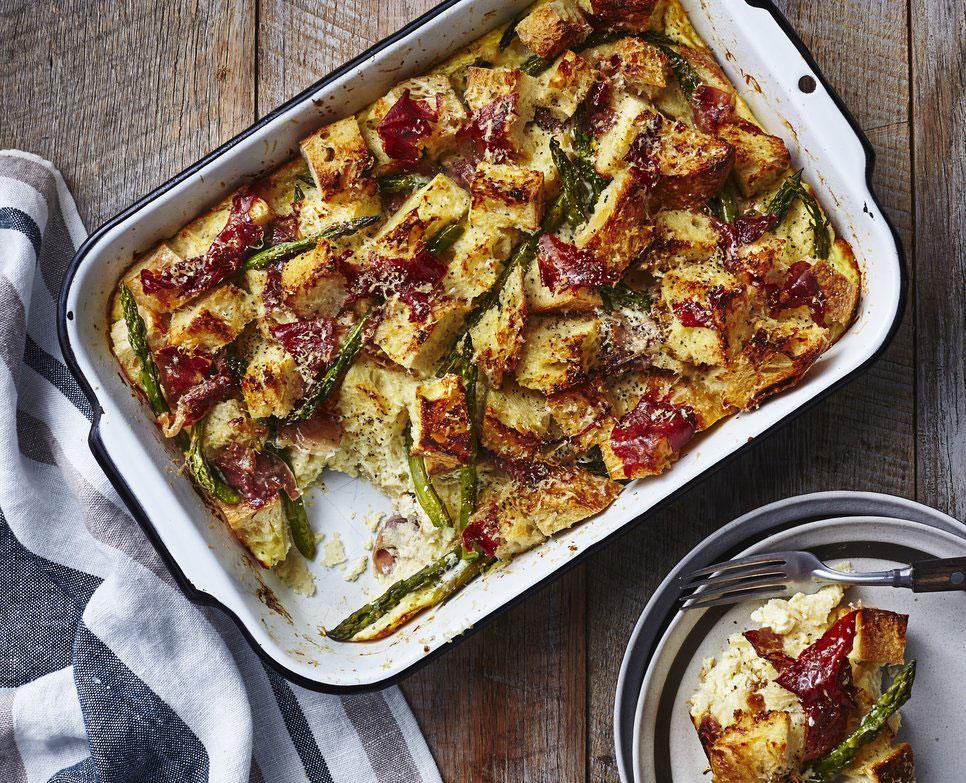 Asparagus and Prosciutto Strata