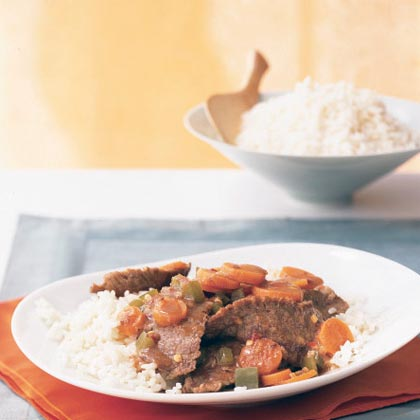 Stir-Fried Beef with Ginger-Carrot SauceRecipe