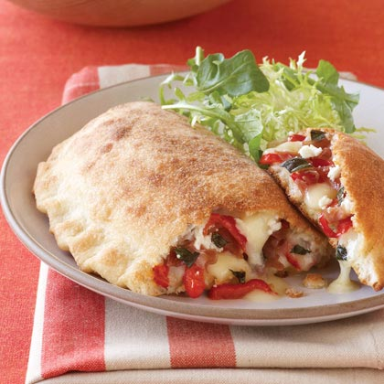 Red Pepper, Fontina, and Prosciutto CalzonesRecipe
