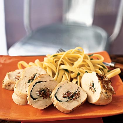 Chicken Roulade with Herbed Cheese and Prosciutto