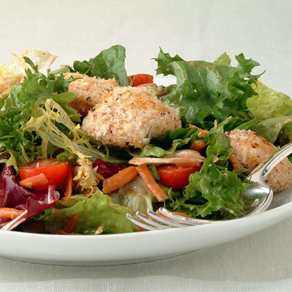 Mixed Salad with Hoisin Vinaigrette and Crisp Panko ChickenRecipe