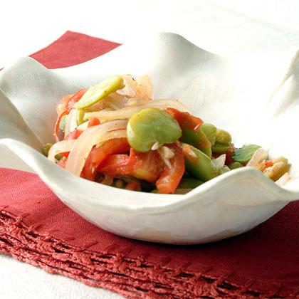 Fava Beans with Tomato and OnionRecipe