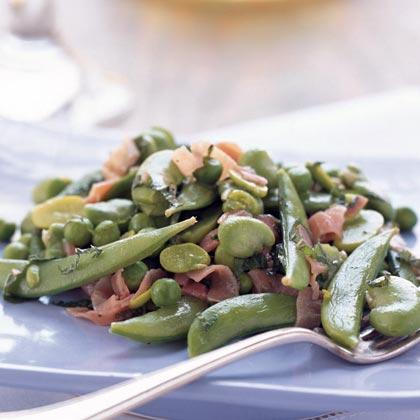 Fava, Sweet Pea, and Sugar Snap Salad