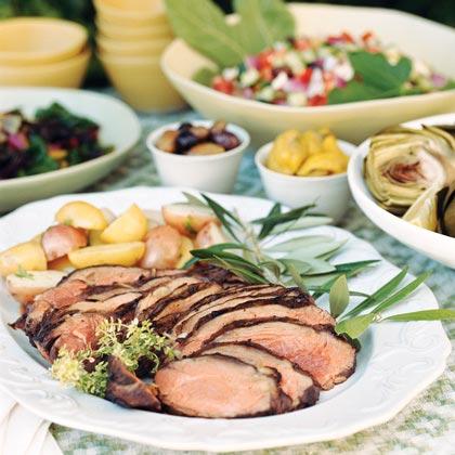 Greek Lamb with Herbs and Garlic