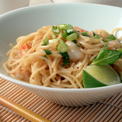 Noodle Salad with Shrimp and Mint