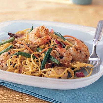 Cold Asian Noodle Salad with Ponzu Vinaigrette Recipe