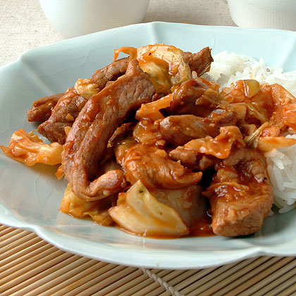 Hot and Sour Pork with Cabbage