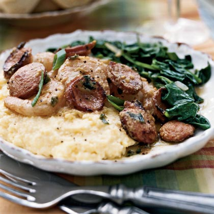 Lowcountry Shrimp and Grits with Vidalia Mustard Greens