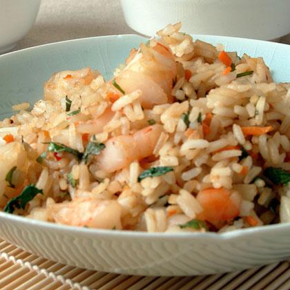 Shrimp Cilantro Fried Rice
