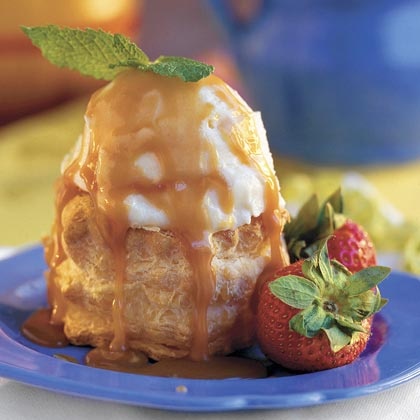 Brandy-Caramel Ice-cream Puffs Recipe