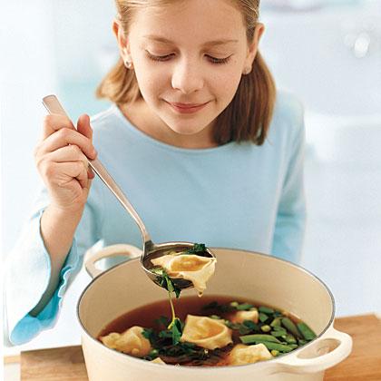 Shrimp Dumpling Soup