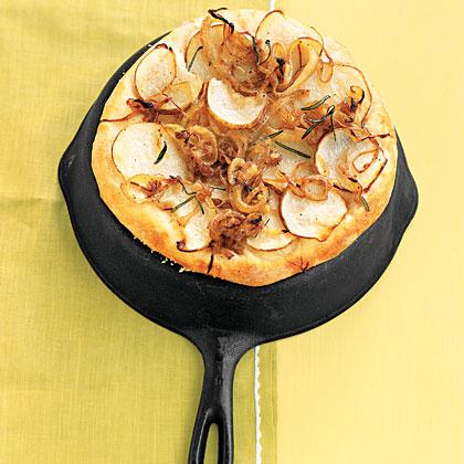 Potato and Onion Flat Bread Recipe