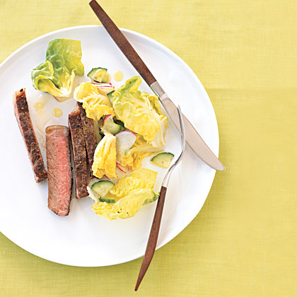 Perfect Steak with Radish Salad