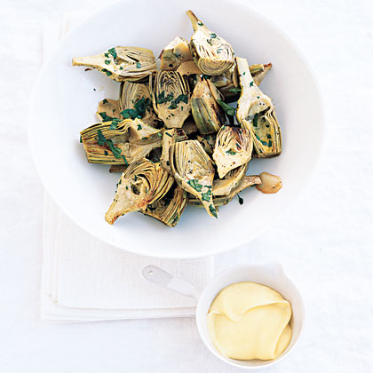 Roast Herb Artichokes Recipe