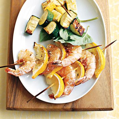 Grilled Shrimp and Lemon Kebabs Recipe