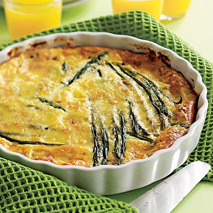 Baked Asparagus Omelet