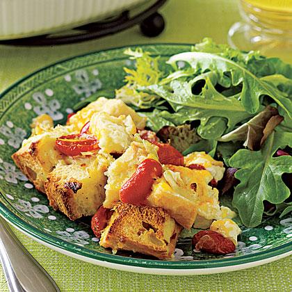 Cheddar-and-Tomato Bread PuddingRecipe