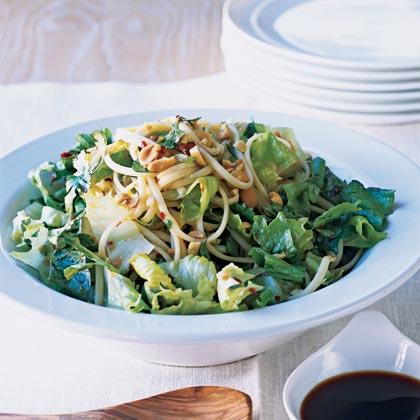 Crisp Lettuces with Asian Noodles Recipe
