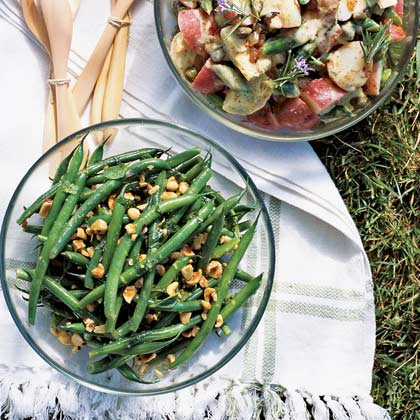 Green Bean, Hazelnut, and Mint Salad with Lemon Dressing Recipe ...