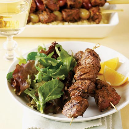 Grilled Lamb Brochettes with Lemon and Dill Recipe