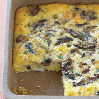 Wild Mushroom-Egg BakeRecipe