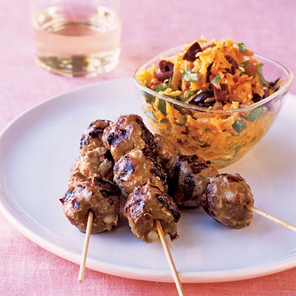 Try this easy pork version of Moroccan meat skewers.Spicy Pork Skewers Recipe