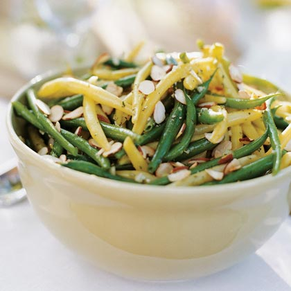Summer Beans with Preserved Lemon, Almonds, and Rosemary Recipe