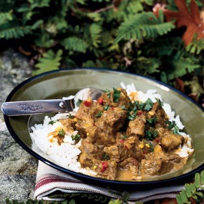 Sri Lankan Beef Curry Dinner