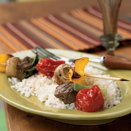 Beef and Vegetable KebabsRecipe