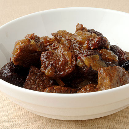Beef Tagine with Dried Plums and Toasted Almonds Recipe