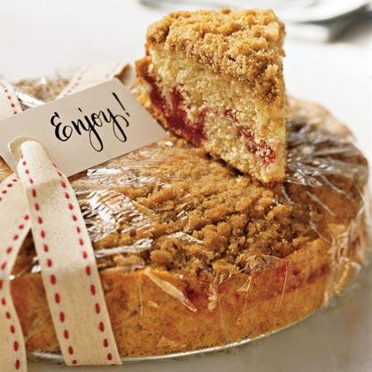 Strawberry Jam Crumb Cake