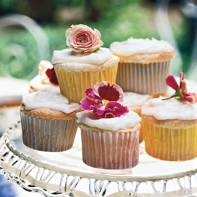 Lemon Angel Food Cupcakes