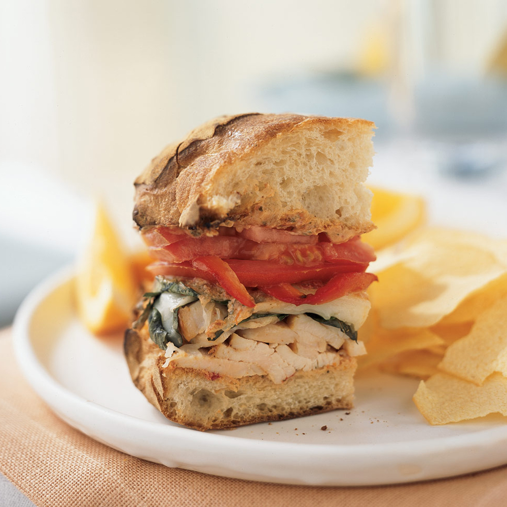 <p>Mozzarella Chicken Sandwich</p>