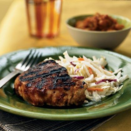 Pork Chops with Carolina Rub