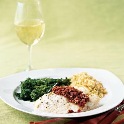 Sablefish with Sun-dried Tomato Tapenade