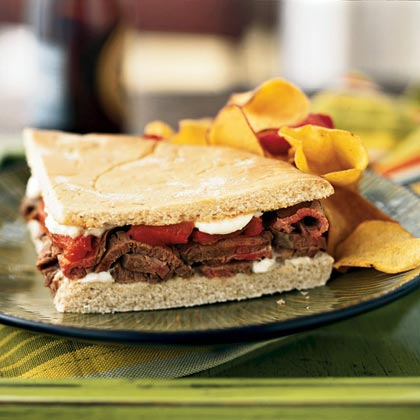 Grilled Beef and Pepper Sandwich