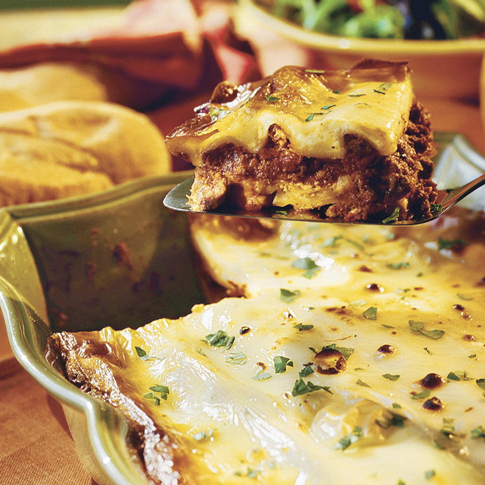 Classic Lasagna                            RecipeThis classic lasagna recipe perfectly matches traditional Italian ingredients with a homemade sauce. Layers of cheese, meat, and pasta will satisfy any crowd.