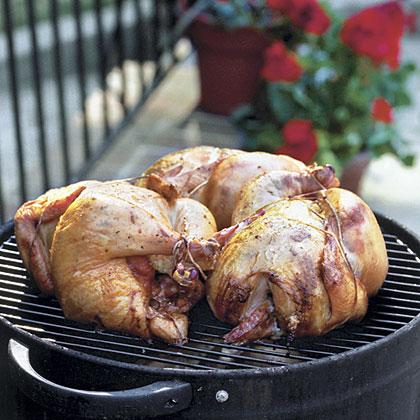 Smoked Lemon-Chipotle Chickens
