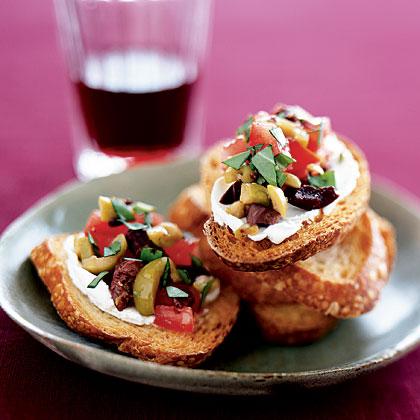 olive-cheese-bruschetta