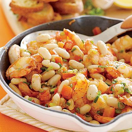 Shrimp-and-White-Bean Bruschetta