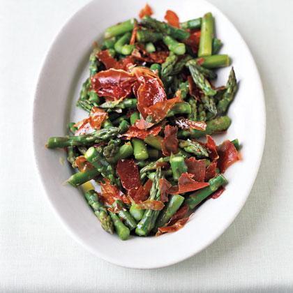 Asparagus with Prosciutto ChipsRecipe