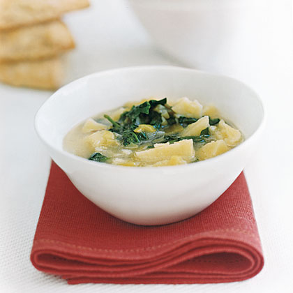 Watercress Soup and Ham Biscuits Recipe