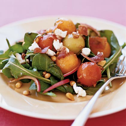 Melon Salad With Prosciutto and Goat Cheese Recipe