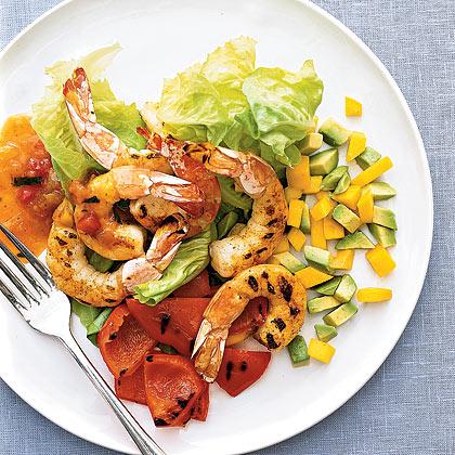 Spicy Shrimp-and-Mango Salad