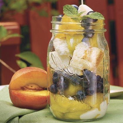 Peach-and-Blueberry Parfaits