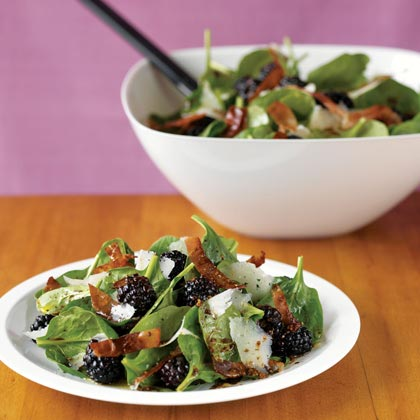 Spinach-Blackberry Salad with Manchego and Prosciutto Recipe ...