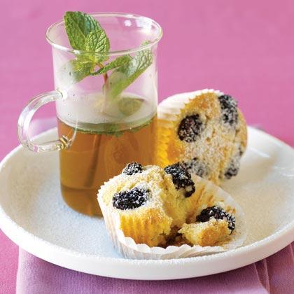 Blackberry-Almond Tea Cakes