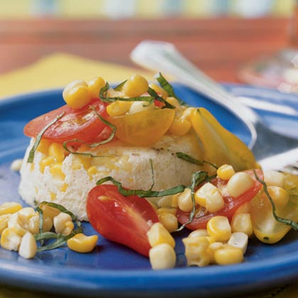 Sweet Corn and Parmesan Flans Recipe
